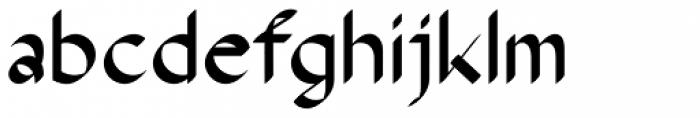 The Stroke Sans Bold Font LOWERCASE