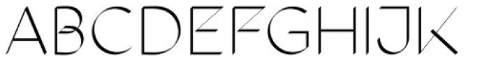 The Stroke Sans Light Font UPPERCASE