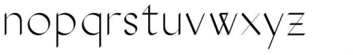 The Stroke Sans Light Font LOWERCASE