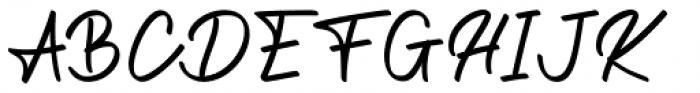 The Wave Regular Font UPPERCASE