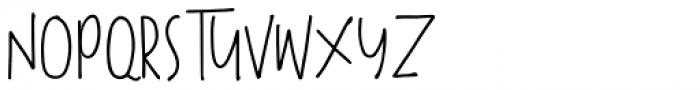 The overthinkers Regular Font UPPERCASE