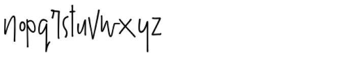 The overthinkers Regular Font LOWERCASE