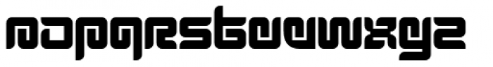 Thenofreak Black Font LOWERCASE