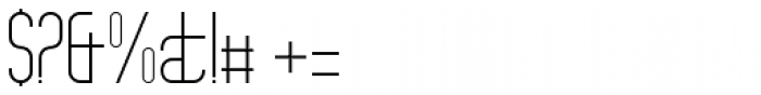 Theo Ballmer Narrow Light Font OTHER CHARS