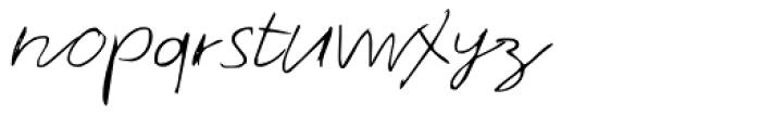 Theo Handwriting Font LOWERCASE