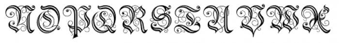 Theodore Fancy Open Font UPPERCASE