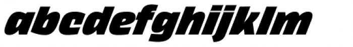 Thicker Black Italic Font LOWERCASE