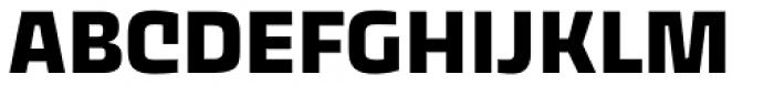 Thicker Bold Upright Font UPPERCASE