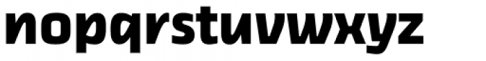 Thicker Bold Upright Font LOWERCASE