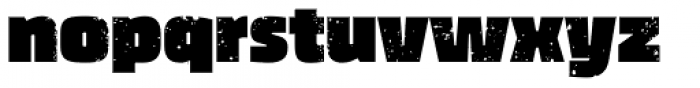 Thicker Destroy Font LOWERCASE