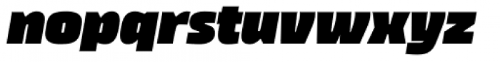 Thicker Extrablack Slanted Font LOWERCASE