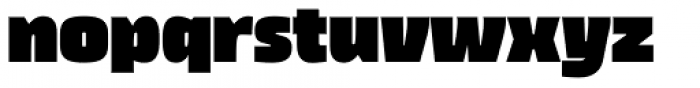 Thicker Extrablack Upright Font LOWERCASE