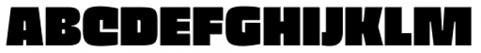 Thicker Extrablack Font UPPERCASE