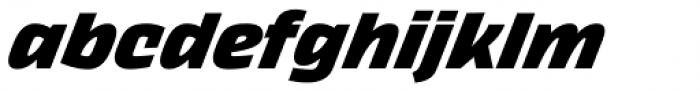 Thicker Extrabold Italic Font LOWERCASE