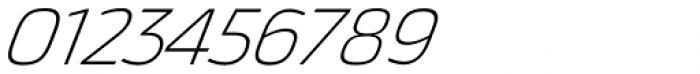 Thicker Extralight Italic Font OTHER CHARS