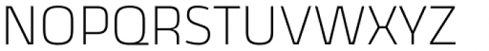 Thicker Extralight Upright Font UPPERCASE