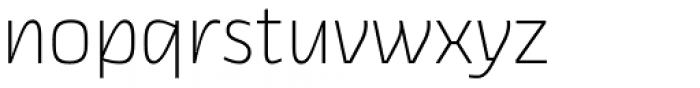 Thicker Extralight Upright Font LOWERCASE