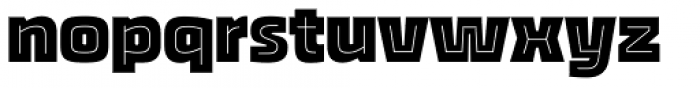Thicker Inline Font LOWERCASE