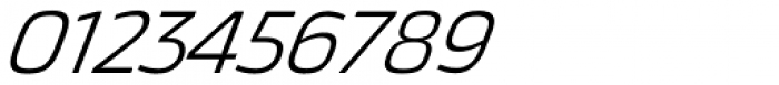 Thicker Light Italic Font OTHER CHARS