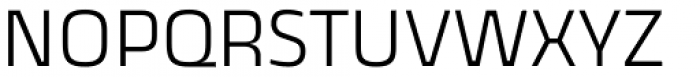 Thicker Light Upright Font UPPERCASE