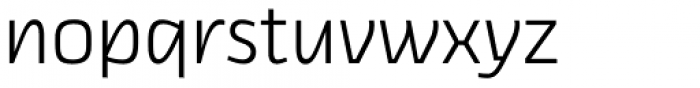 Thicker Light Upright Font LOWERCASE