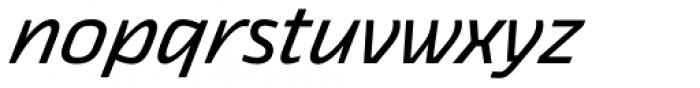 Thicker Regular Italic Font LOWERCASE