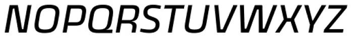 Thicker Regular Slanted Font UPPERCASE