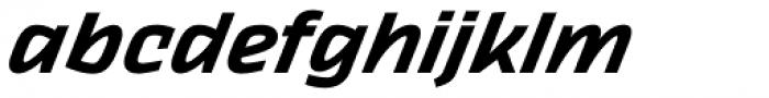 Thicker Semibold Italic Font LOWERCASE