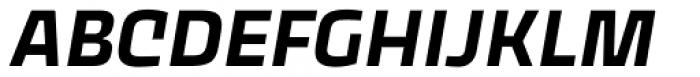 Thicker Semibold Slanted Font UPPERCASE