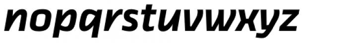 Thicker Semibold Slanted Font LOWERCASE
