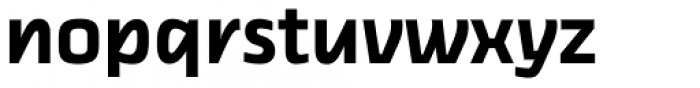 Thicker Semibold Upright Font LOWERCASE