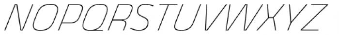 Thicker Thin Italic Font UPPERCASE