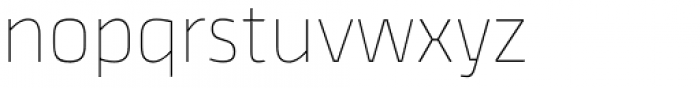 Thicker Thin Font LOWERCASE