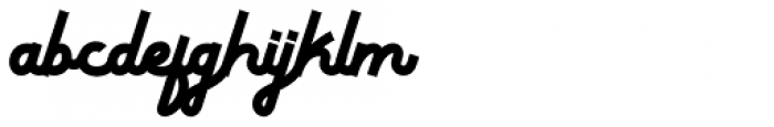 Thickline Regular Font LOWERCASE