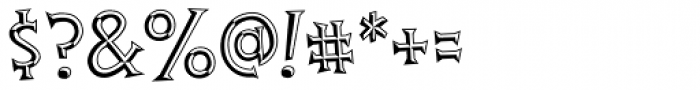 Thingamajig Engraved Font OTHER CHARS