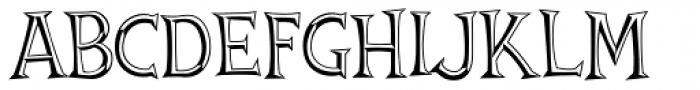 Thingamajig Engraved Font UPPERCASE