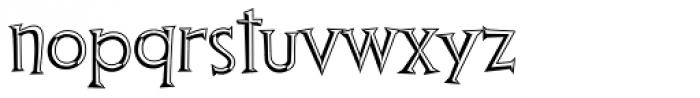 Thingamajig Engraved Font LOWERCASE