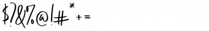 Think Pink Regular Font OTHER CHARS