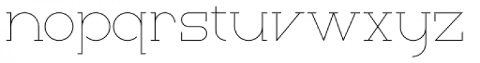 Thinset Font LOWERCASE