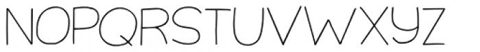 Third Time Lucky Thin Regular Font UPPERCASE