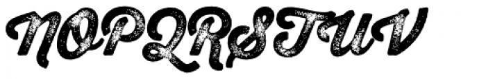 Thirsty Rough Black Three Font UPPERCASE