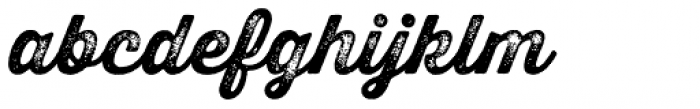 Thirsty Rough Bold Three Font LOWERCASE
