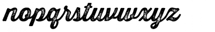 Thirsty Rough Bold Two Font LOWERCASE
