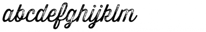 Thirsty Rough Light Three Font LOWERCASE