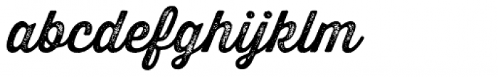 Thirsty Rough Two Font LOWERCASE