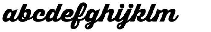 Thirsty Script Black Font LOWERCASE