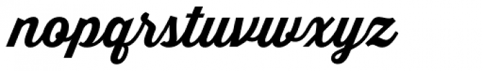 Thirsty Script Bold Font LOWERCASE
