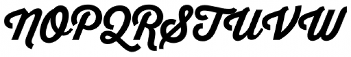 Thirsty Script ExtraBold Font UPPERCASE