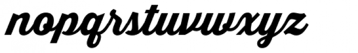 Thirsty Script ExtraBold Font LOWERCASE