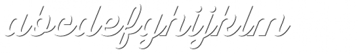 Thirsty Script Shadow ExtraBold Font LOWERCASE